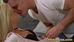 Dane Jones Czech blonde Cristal Caitlin sensual blowjob and passionate sex