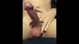 Young Man, Big Cock. Jerking off to cum all over.