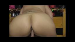 BBW Bouncing Chunky Arse Riding Cock POV