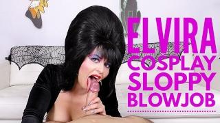Cum Swallowing Cosplay Whore Elvira Sucks Cock Larkin Love 4k