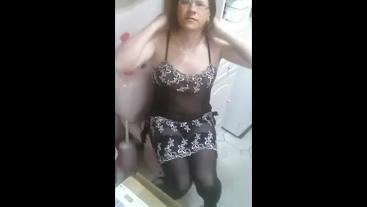 Patty Crossdresser black nighty