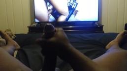 MASSIVE CUMSHOT HUGE CUM LOAD WATCHING PORN