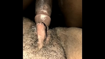 Fucked in creamy tight pussy