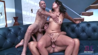 Dominant hotwife make her husband cuckold and fucked from a shemale