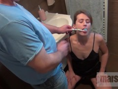MarssyX - tooth cleaning, cum and piss