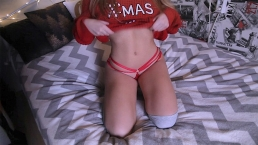Barely 18 Years old FIT girl gets creampie for Xmas - morningpleasure