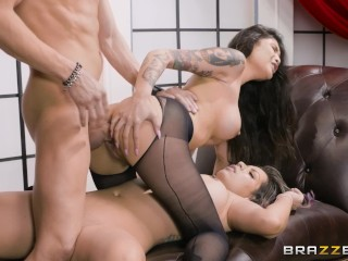 Father xxx tube brazzers a hot threesome after the theater with babes brenna & yurizan, brazzers bru