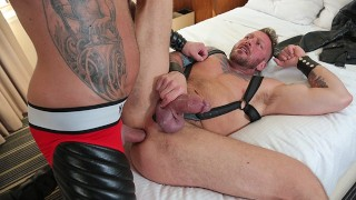 Two Tatted Up Muscle Men Hugh Hunter & Dolf Dietric Deepthroat And Bareback