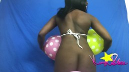 Kassey Starr Covered in Balloons