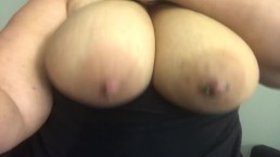 Bouncing my big milky titties