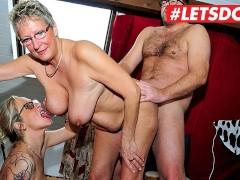German Mature MILFs Abuse Young Stud - LETSDOEIT