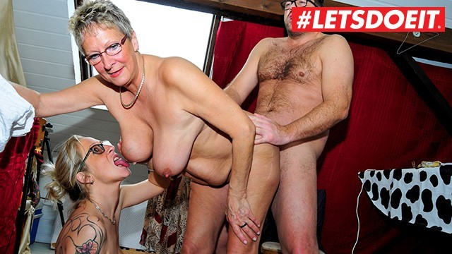 Mature and young xxx German mature milfs abuse young stud - letsdoeit