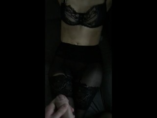 Couple with transvestite hubby fille sexy se fait baiser dans ses collants layered nylon lasaloperousse, butt redhead kink nylon layered nylons
