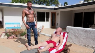DylanLucas Muscle Hunk Neighbor Daddy Caught Me In His Pool