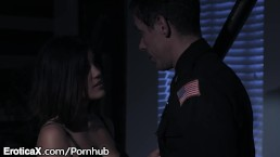 EroticaX Mr. Officer Please Keep My Asian Teen Pussy Safe!