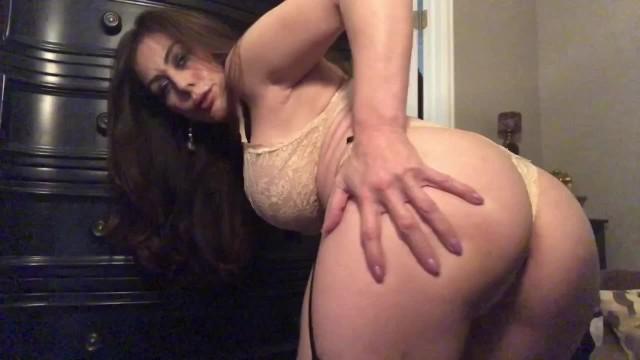 Teen schoolgirl with big tits handjob on her black tights
