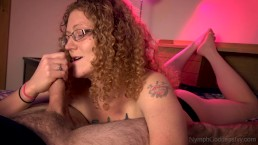 Red head MILF Ivy slow jerks hubby off