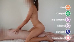 Asian massage girl sucks and fucks her customer