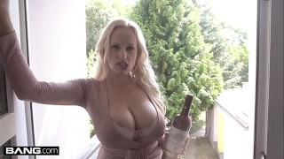 Glamkore – Angel Wicky begs her hot neighbor to stick his dick in her ass