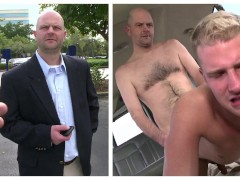 BAIT BUS - Middle Aged Salaryman Thomas Hoffman Cheats On His Girlfriend