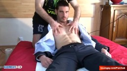 Paul Handsome hetero neighbour to massage in spite of him.