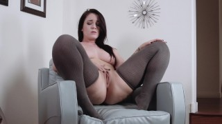 Screen Capture of Video Titled: curvy girlfriend strips and squirts while youre at work