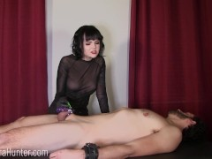 Desperate slave tormented in chastity