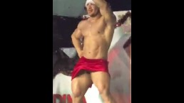 Dancing Latino Muscle Santas
