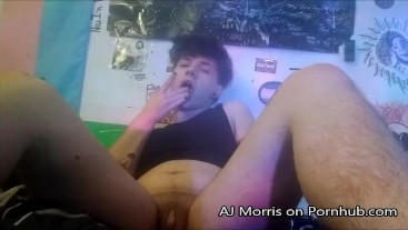 WET FTM TWINK CUMS HARD WHILE PLAYING WITH BOY PUSSY
