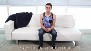 Casting tight agent pounds gaycastings ass glasses cumshot