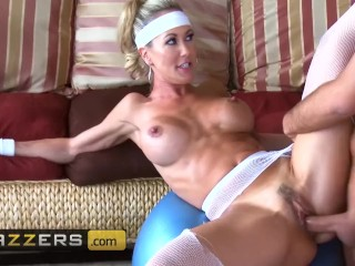 Brunette breast massage brazzers fit milf brandi love has hard abs and loves hard cock, bigtitsinspo