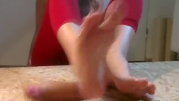 Perfect Footjob Stroke and High Arches. Who is this?