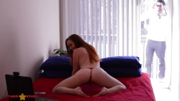 Hard anal for slutty cam girl ends in facial