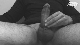 Huge frontal cumshot Masturbation handjob