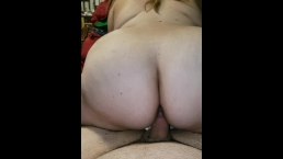 Riding my man reverse cowgirl and I love how his dick feels!!! [POV]