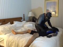 gasmasked orca predator vs masked tattooed surfer