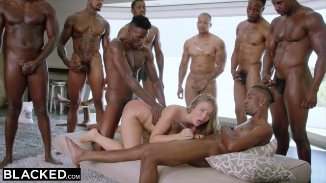 Were havin a gang bang mp3 Blacked lena paul first interracial gangbang