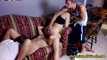 Two Girls Start and Two Guys Finish with Ms Paris and Friends