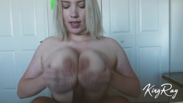 Blonde PAWG Gives Sloppy Neck & Fucks BBC On Bed For Massive Facial