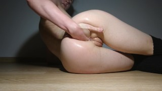 Self fuck anal dildo and ass fingering: hot anal slut Realdaddysangel