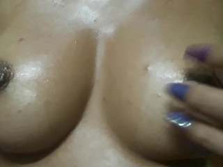perky oiled up tits