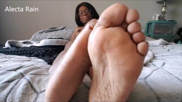 Footjob and naked footfuck