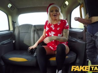 Fake Taxi Festive taxi fuck and facial finish for busty blonde