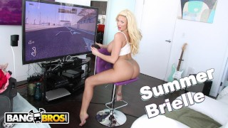 BANGBROS – Busty Blonde MILF Summer Brielle Squirts All Over Mike Adriano