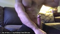 jerking off in the living room