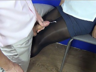 "First night full video (60fps) horny secretary suck and handjob! Cum on legs in nylon РєРЃР"" sanyany"