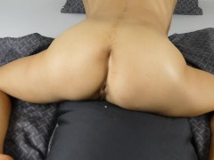 Hot Milf Pillow Humping Orgasm with loud load moaning