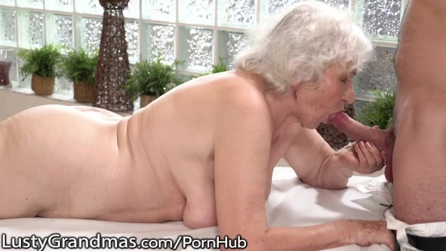 Cougar ladies xxx Lustygrandmas old lady drilled by young stud masseur