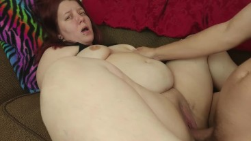 BBW takes it like a good girl and gets a big load from daddy