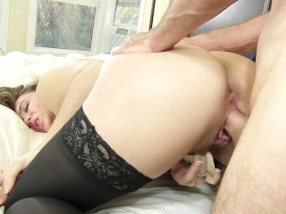 Danish sex orgy natasha nice in thigh highs masturbates while she thinks about her brother , brunette babe natural boobs curvy trimmed